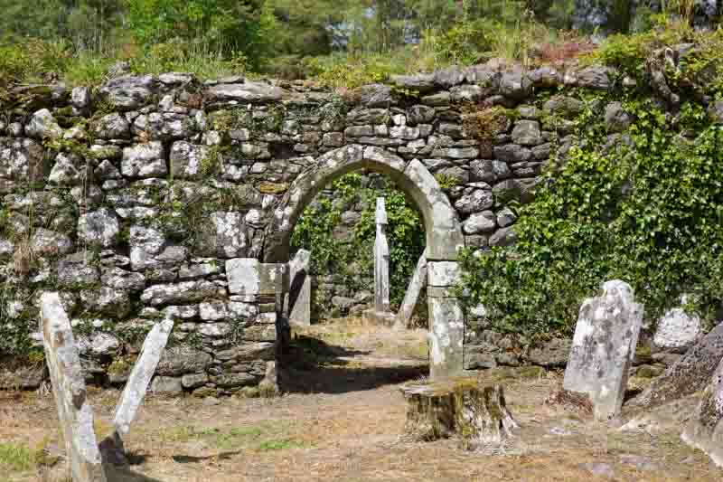 Entrance to the medieval ruins of Knockboy Church