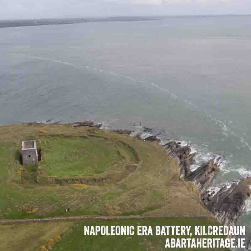 Napoleonic Era Gun Battery at Kilcredaun Loop Head Heritage Trail