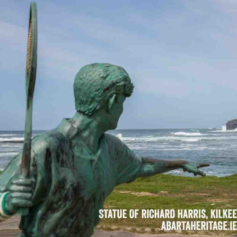 Statue of Richard Harris at Kilkee Loop Head Heritage Trail