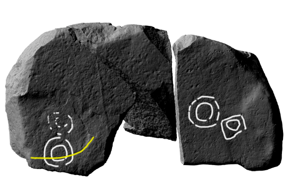 Annotated image of the 3D model produced from the laser scanning by the Discovery Programme