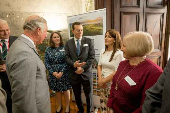 Introducing HRH Prince Charles to Christina Knight and Mary Power of Gallows Hill, Dungarvan