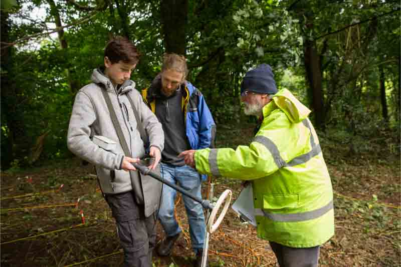 Volunteers on the geophysical survey of Round Hill Lismore