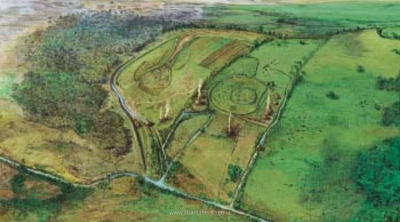 Reconstruction illustration of Raystown by Simon Dick - Meitheal Stories from Early Medieval Ireland Irish History Audio Book