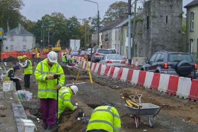 Buttevant Heritage Trail Archaeologists at Work