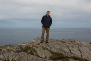 Author Neil Jackman at Malin Head, the last stop on our voyage along the Wild Atlantic Way