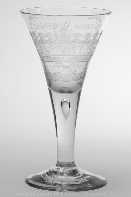Wine goblet used by James Worsdale of the Dublin Hellfire Club