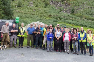 The Adopt a Monument Group at Glenmalure Wicklow