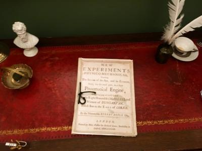 Robert Boyle Escape Room document on desk