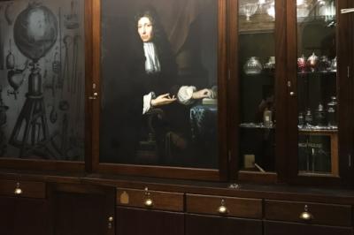 Robert Boyle Escape Room Cabinet Wall
