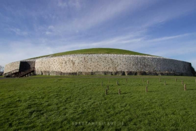 A view of Newgrange - the most famous of Ireland's passage tombs