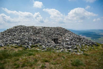 A view of Seefin Passage Tomb in the Wicklow Mountains