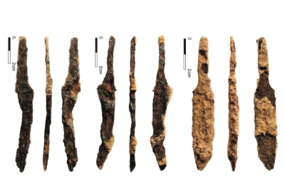 A selection of iron knives from Woodstown Viking Site Waterford (Courtesy of TII and ACS Ltd)