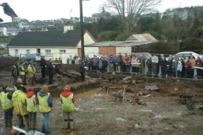 Service at Ballyhanna during the excavation of the site (Michael MacDonagh TII).