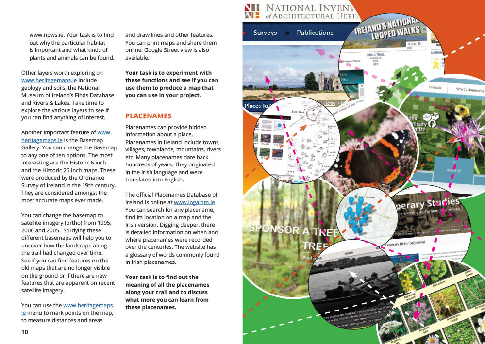Brochure Design - interior spread - Discover your Trail booklet