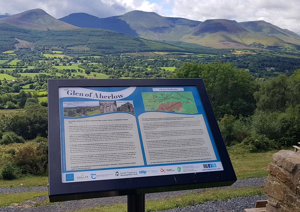 Glen of Aherlow signage design in situ