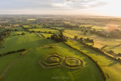 The Hill of Tara from the air..