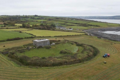 Aerial view of Kilkerrin Battery Fort one of the new sites that has joined Adopt a Monument 2019