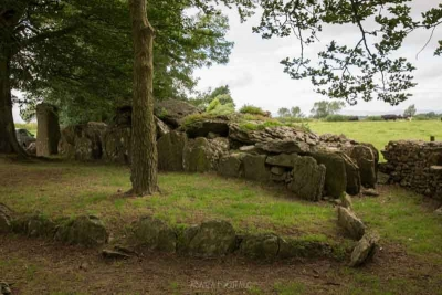 An image of Labbacallee Wedge Tomb, County Cork. This is Ireland's largest wedge tomb and may have been the final resting place for a community of Beaker People