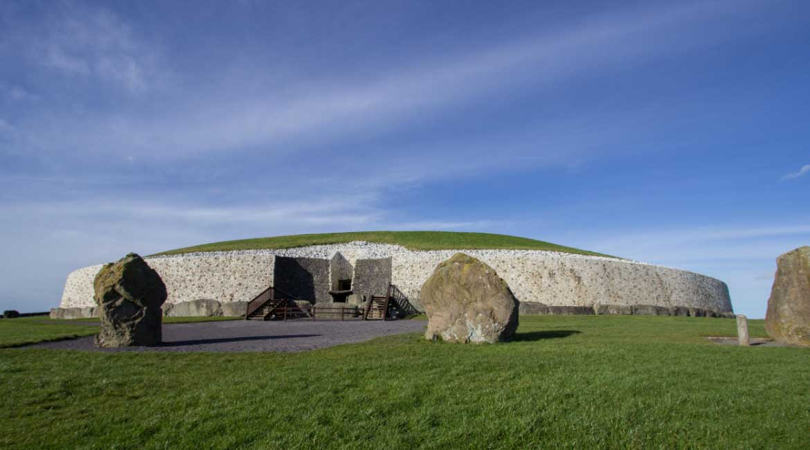 Newgrange Passage Tomb one of the highlights visited in the Boyne Valley Audio Guide