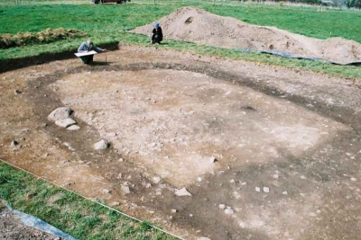 The foundations of a Viking House found at Woodstown Waterford (Courtesy of ACS Ltd)