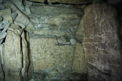 The interior of Cairn G at Carrowkeel