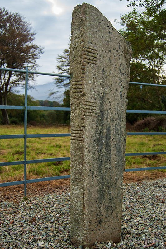 Ogham stone at Dunloe Kerry
