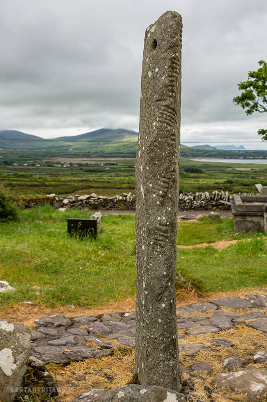 Ogham stone at Kilmalkedar Kerry